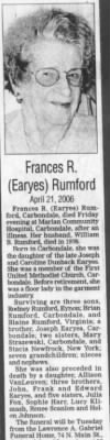 Frances R Earyes