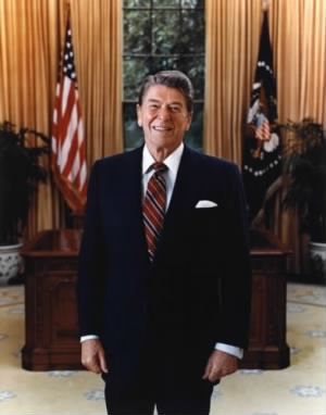 President Ronald W. Reagan in the Oval Office