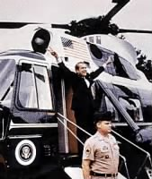 Nixon Leaving the White House