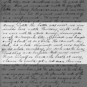 Fold3 Image - Account of the American army's escape across the East River
