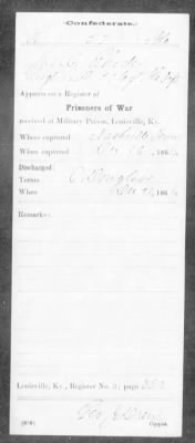 Confederate Service Record (5 of 12)