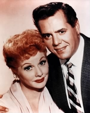Desi Arnaz (March 2, 1917 – December 2, 1986) with wife Lucille Ball