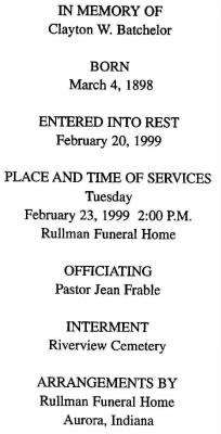 Clayton Batchelor Funeral Card.jpg - Fold3.com