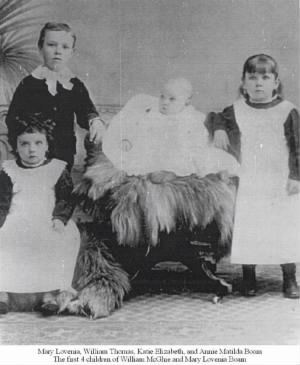 First four children of Willam McGhie & Mary Lovenia Boam