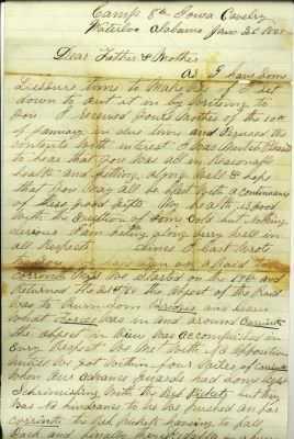 Union Captain George M Detwiler Civil War letter
