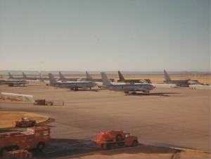 Dyess Air Force Base flightline. (1967)