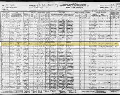 W.B. and Velma  West in  Federal Census 1930