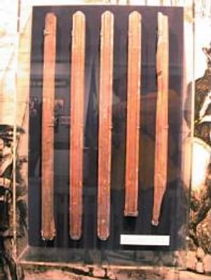 Pieces   of    the scaffolding used to hang John Brown.jpg