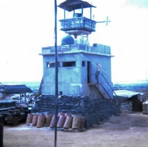 Observation Tower built by Engineers at Fire Base 4, DNZ, Vietnam