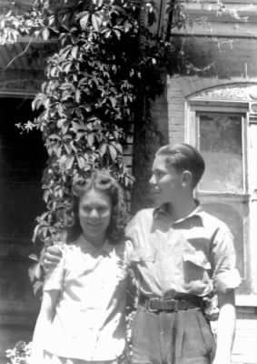 Allan and sister Beverly as teens