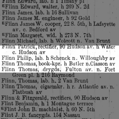 Philip Flynn 1869  schenck and willoughby ave