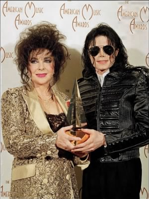 Michael Jackson and Elizbeth Taylor