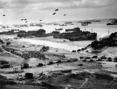 D-Day Invasion of Normandy Beach. I do not know the exact Beach or time.  Barbi