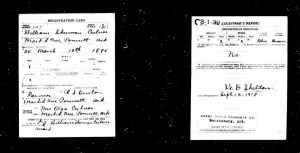 Grandpa's Registration Card