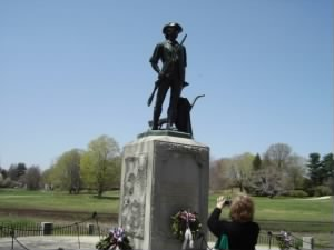 Minutemen statue at North Bridge