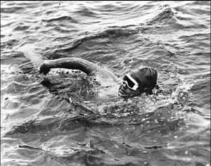 Gertrude Ederle Swimming the English Channel in Aug 1926