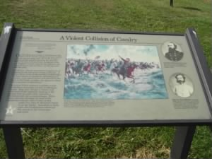 Custer's plaque at Gettyburg Battlefield