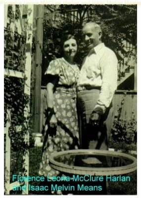 Florence McClure Harlan and Isaac Melvin Means, 1943