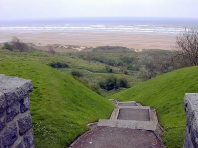 The Path Looking Down onto Normandy Beach.