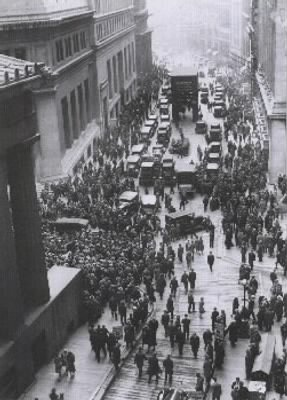 Crowd Outside the New York Stock Exchange
