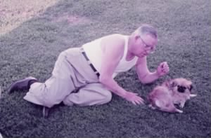 C.A. Walterhouse and his dog