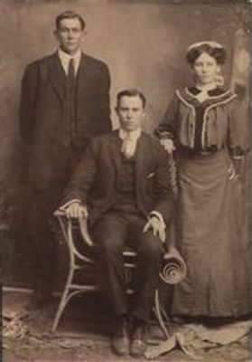 Papa, Cousin and sister Millie.jpg
