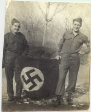 Dad - British soldier - Nazi flag.jpg