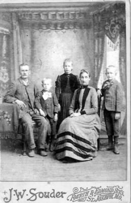 Jesse Holmes and Sarah Ann Lowrie and their family