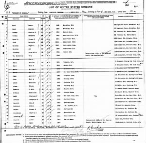 1934 Apr 19 Monarch of Bermuda Ship Manifest from Bermuda, Line 30