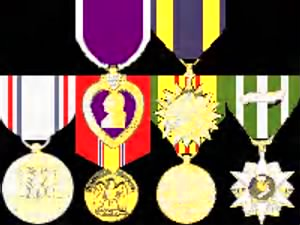 Medals: Purple Heart, Air, Good Conduct, Vietnam Service, Vietnam Campaign, Nat Def