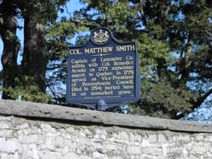 Col. Matthew Smith marker