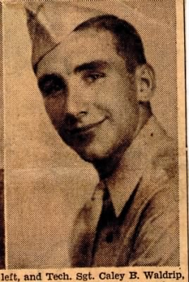 T/Sgt Caley B Waldrip, WW II England, B-26's, 391stBG,575thBS (INJURED)