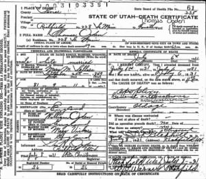 Thomas Ogden Death Cert