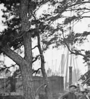 B-264 Camp scene, showing cook's tent, etc