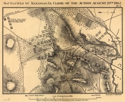 Battlefield of Manassas, Va. close of the action August 29th, 1862 Bowen & Co., lith., Phila. › Page 1 - Fold3.com