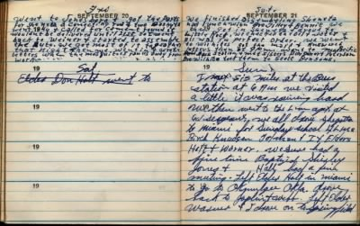 fh-nvd famd Norman Van Duncan's Missionary Journal Mentions Future Wife Sister Flora Miles on Sunday 21 Sep 1947.jpg - Fold3.com