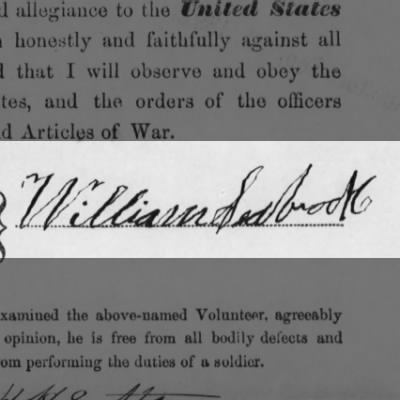 Signature of William Seabrook, Company H 21st USCT