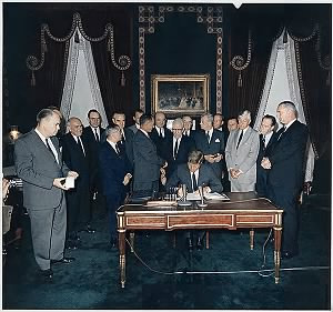 Signing of the Nuclear Test Ban Treaty