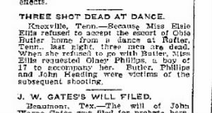 Three Shot Dead At Dance