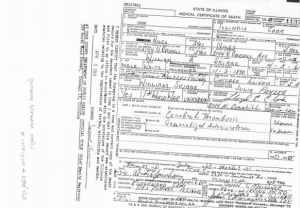 Death Certificate for William Skibbe