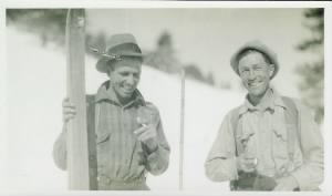 Jasper Miley and Henry Merema after rescuing the Nightingale family - January 1930.jpg