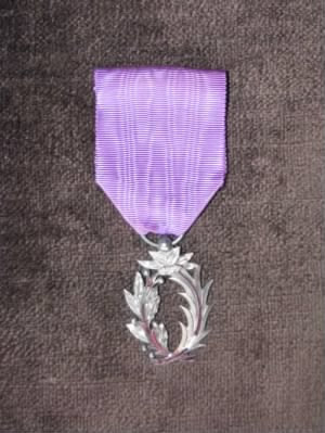 Photo of French Medal Awarded to Paul de Launay in 1926.