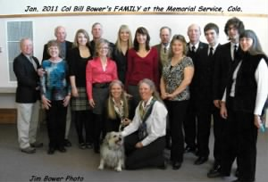 Bill and Lorraine Bower's Family, in Colo. at the Memorial Service, Jan.2011