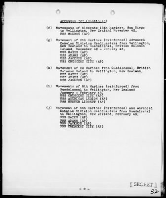 History of the 2nd Marine Div from 12/7/41 to 3/1/43 › Page 32 - Fold3.com