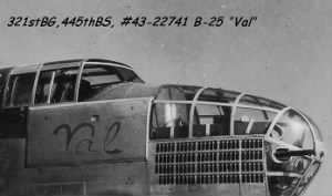 Lt Leno Miron flew the B-25 VAL/ Modern Design, MTO Combat Missions
