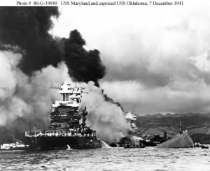 8_USS Maryland and Capsized USS Oklahoma_07Dec1941.jpg