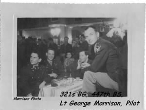 Lt George Morrison, B-25 Pilot, 321st  Bomb Group, 447th Bomb Squad WWII 1945