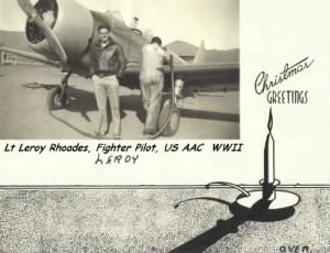 Leroy Rhoades, US AAC during WWII