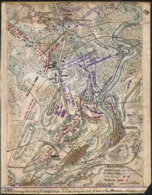 Map shewing advance of 6th Army Corps (Genl. John Sedgwick U.S.A.) to assist Gen. Hooker at Chancellorsville. › Page 1 - Fold3.com