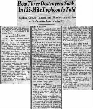 Sinking Article_Houston Chronicle_14 January 1945
